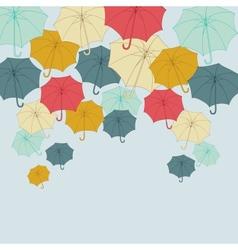 Background with collor umbrellas autumn vector image