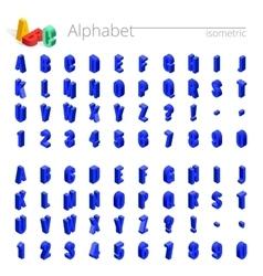 3d isometric alphabet font Isometric vector image