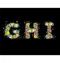 alphabet floral design vector image