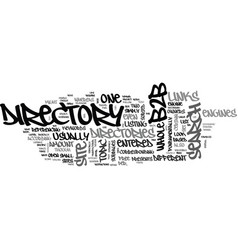 Bb directory text word cloud concept vector