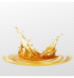 Beer foam splash of white and yellow color on a vector