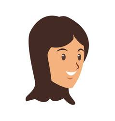 cartoon face young girl student vector image