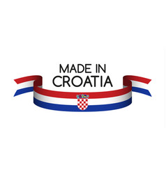 Colored ribbon with the croatian tricolor vector