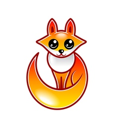 Cute cartoon fox isolated vector image