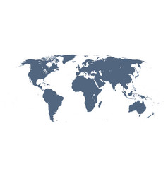 Detailed world map vector