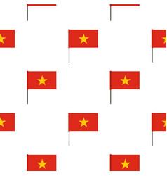 Flag of vietnam pattern seamless vector