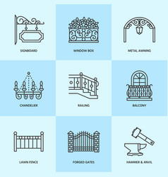 forged metal products artistic forging vector image