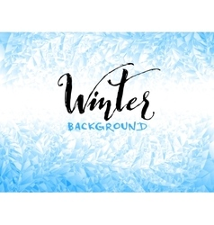 Ice winter background vector