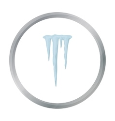 Icicles icon in cartoon style isolated on white vector image