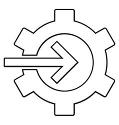 Integration arrow outline icon vector