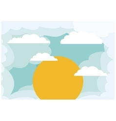 Isolated cloud of sky design vector