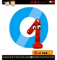 letter o with one cartoon vector image