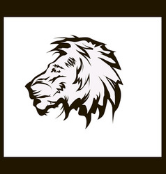 lion head tattoo vector image