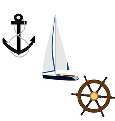 Navy set vector image vector image