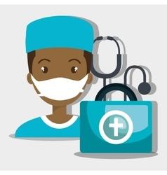 nurse tools service kit vector image