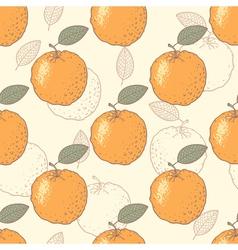 Oranges seamless pattern vector