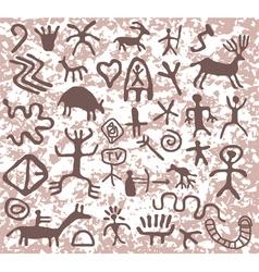 petroglyphs vector image
