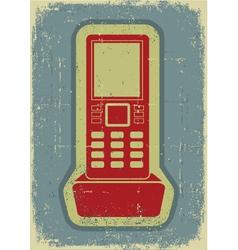 Radio phoneGrunge symbol on old paper texture vector image