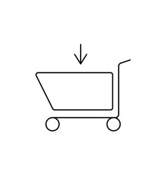 Shopping caddie in vector