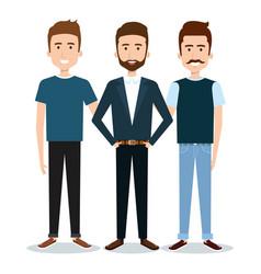 standing people set vector image