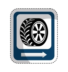 traffic signal car tire location vector image