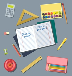 Welcome back to school and have a good year card d vector