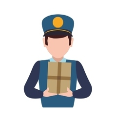 Postman delivery shipping logistic security icon vector