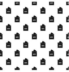 Ballot box pattern vector