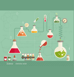 Medical laboratory infographics depicting a vector