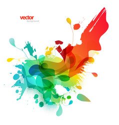 Abstract colored background with different shapes vector