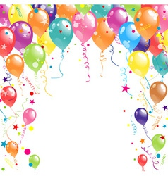 Color beautiful party balloons vector
