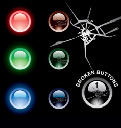 Broken buttons vector