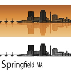 Springfield skyline in orange vector
