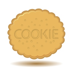 Cookie icon vector