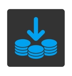 Income icon from commerce buttons overcolor set vector