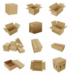 Cardboard set vector