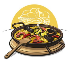 Spanish paella vector