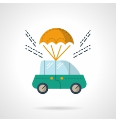 Car purchase and delivery flat color icon vector