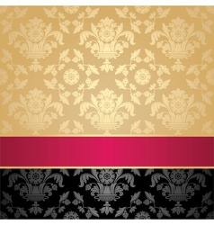 seamless pattern floral decorative background pink vector image