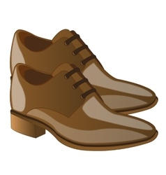 Fashionable male loafers vector