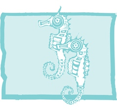 Two seahorses vector image