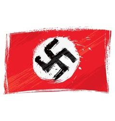 Grunge Nazi flag vector image