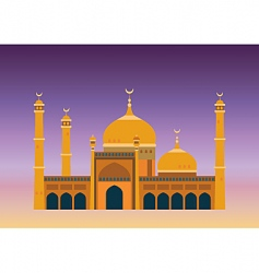 Arabian mosque vector