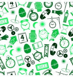 Time theme modern simple icons seamless color vector