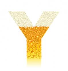 alphabet beer y vector image