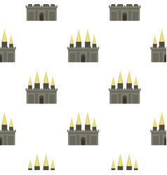 Ancient castle palace pattern seamless vector