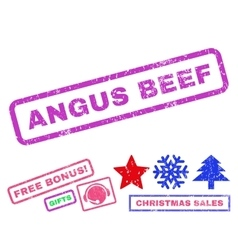 Angus beef rubber stamp vector