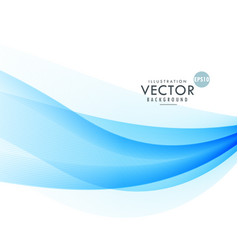 Awesome blue wave background design vector