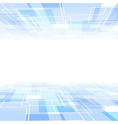 Blue tile background with perspective vector image vector image