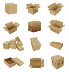 cardboard set vector image